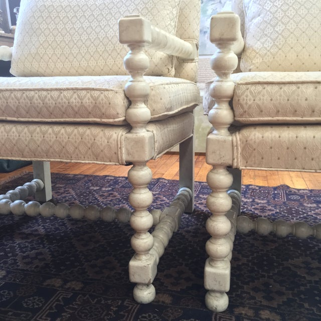 Mid-Century Turned Wood Chairs - A Pair - Image 6 of 7