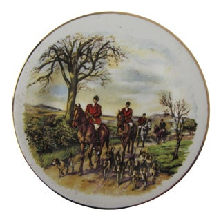 Vintage English Hunt Scene Small Catchall