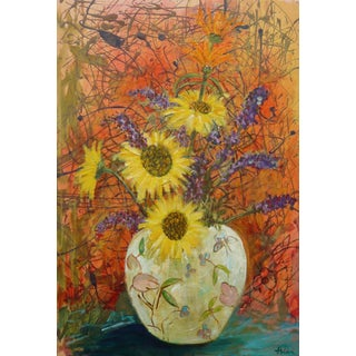 """""""Wildflowers"""" Oil Painting on Canvas"""