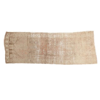 "Vintage Distressed Oushak Rug Runner - 3'6"" x 9'6"""