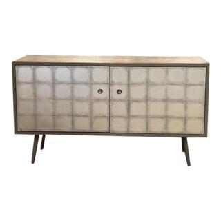 Dwell Gray Metallic Media Cabinet