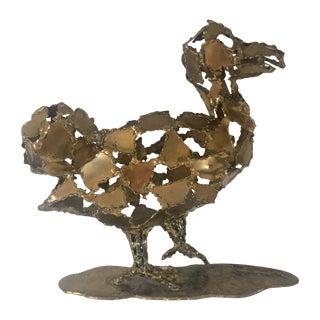 Silas Seandel Brutalist Brass Sculpture