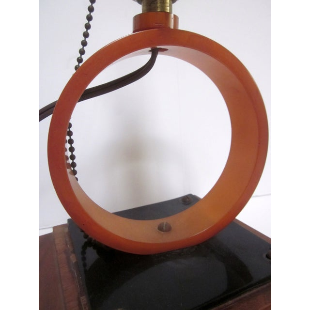 Image of Vintage Thick Butterscotch Bakelite Lamp