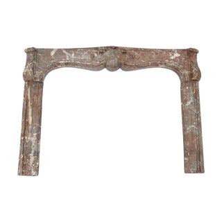 Louis XV Royal Rouge Marble Fireplace Mantel
