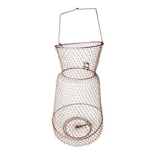 Vintage French Wire Mesh Collapsible Hanging Kitchen Basket