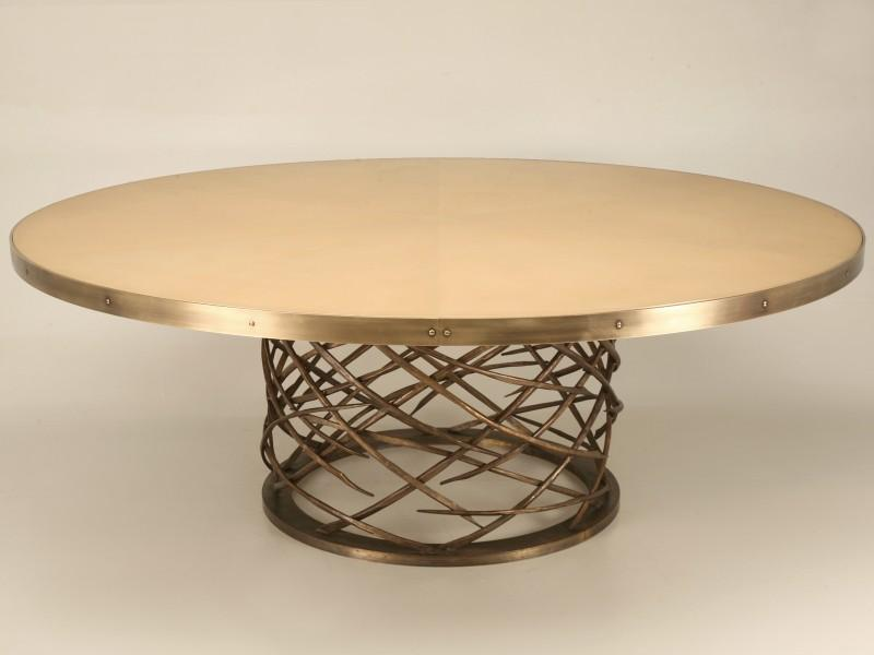 Custom Made Woven Solid Bronze Table Base   Image 2 Of 11