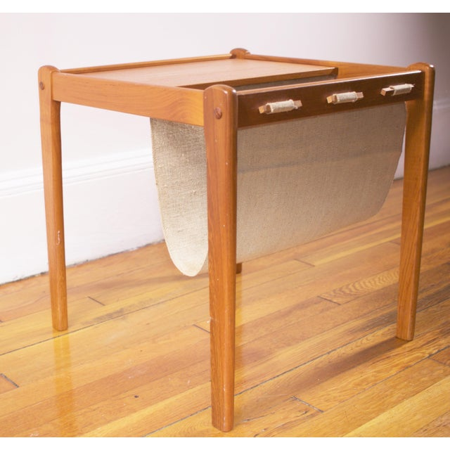 Mid-Century Furbo Danish Teak Side Table With Magazine Holder - Image 4 of 10