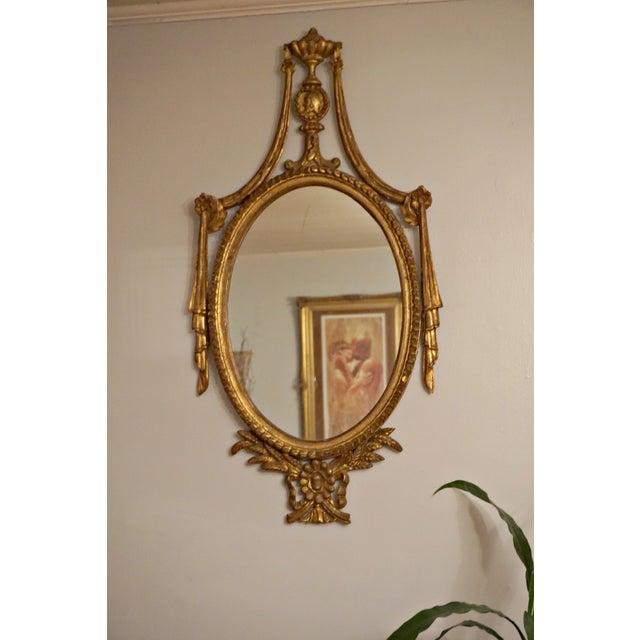 Image of Gilt Wood Swag Mirror