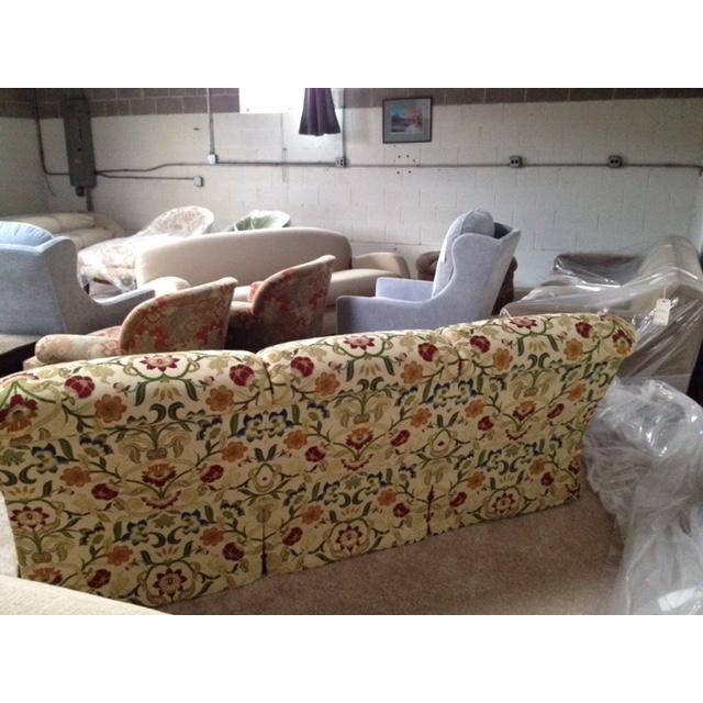 Portuguese Tapestry Uphulsyered Willis Sofa - Image 5 of 6
