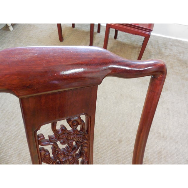 Image of Chinese Rosewood Oriental Style Dining Chairs - 10