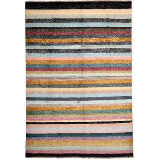 """Gabbeh Hand-Knotted Striped Rug - 5'8"""" x 8'3"""""""