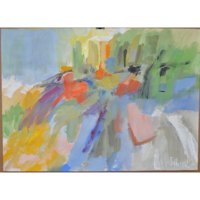 Colorful Modernist Abstract Painting C.1980's - Image 1 of 4