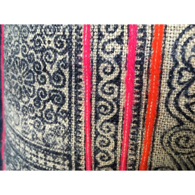 Hmong Tribal Batik Pillow - Image 6 of 7
