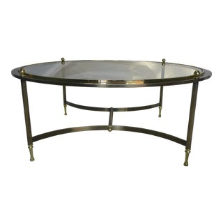 Design Institute of America Round Glass Top Coffee Table