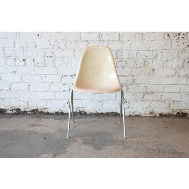 Charles Eames for Herman Miller DSS Stacking Chairs in Parchment - Set of 4 - Image 4 of 9