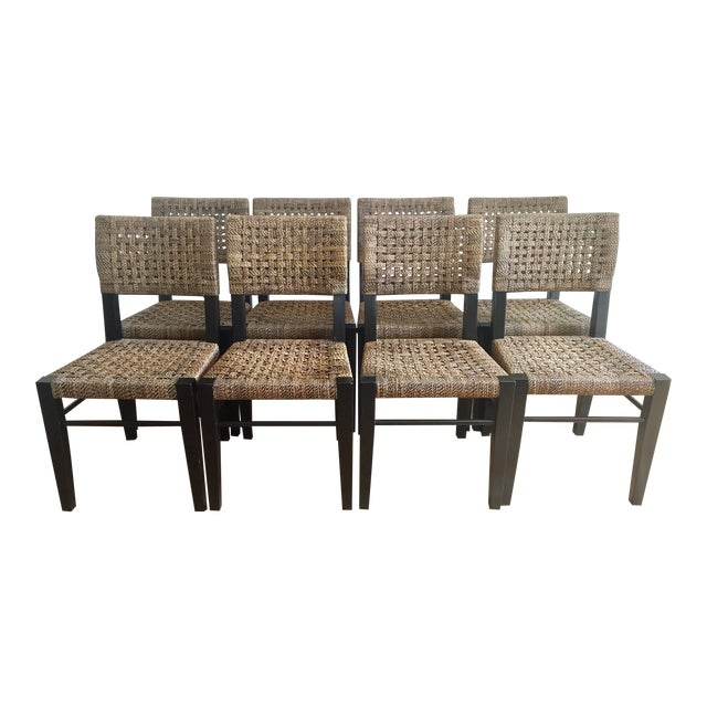 Palecek Panamawood Dining Chair   Set of 8Palecek Panamawood Dining Chair   Set of 8   Chairish. Palecek Dining Chairs. Home Design Ideas