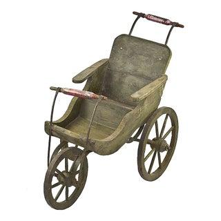 Vintage Wooden Baby Stroller