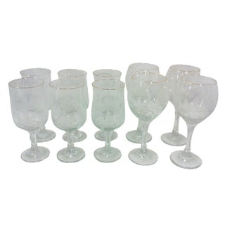 Frosted Trees Stemware - Set of 10