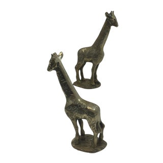 Brass Giraffes - A Pair