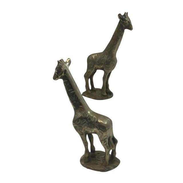 Image of Brass Giraffes - A Pair