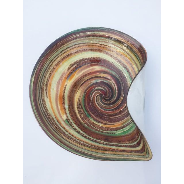 Image of Murano Multicolor Swirl Dish