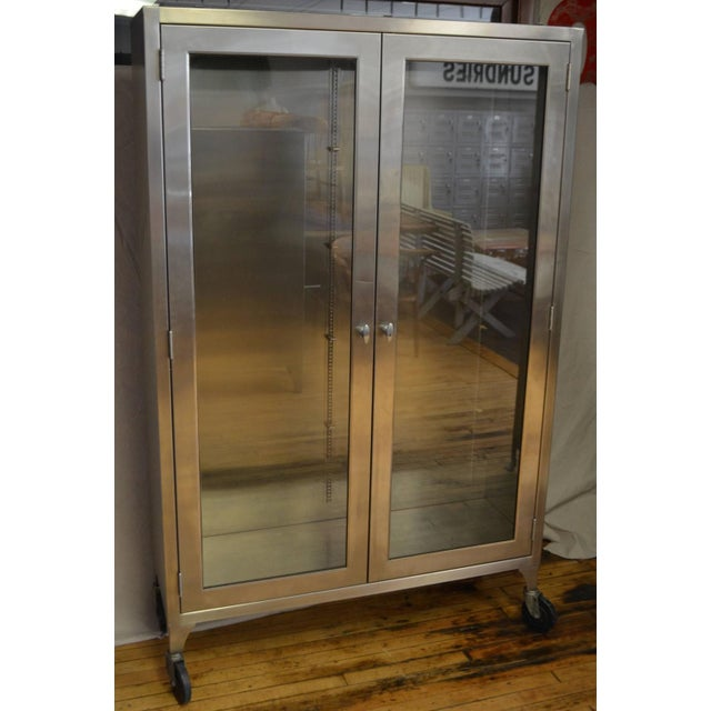 Lighted Two-Door Dental Apothecary Lab Cabinet - Image 2 of 10