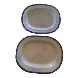 English Staffordshire Platters - A Pair