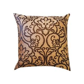 Embossed Floral Velvet Stamped Pillow