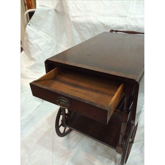 Walter of Wabash Drop-Leaf Bar Cart - Image 8 of 10