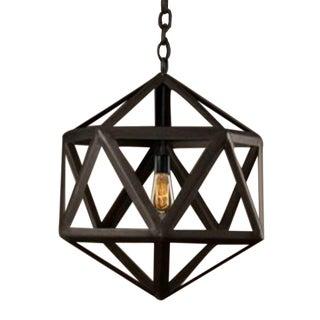 Wooden Lantern Pendant Lamp Fixture