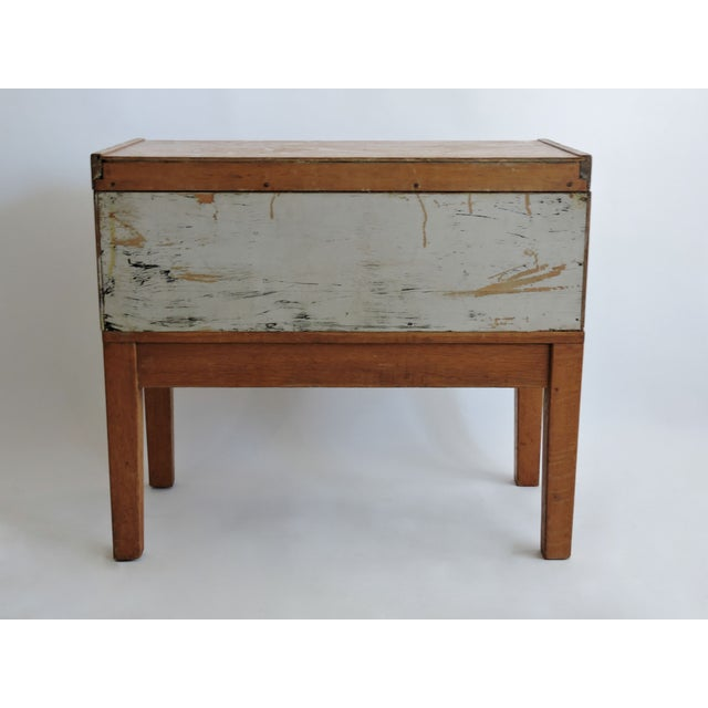 Tiger Oak Filing Cabinet Library Table Circa 1919 - Image 5 of 5
