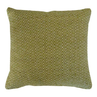 Herald Green Silk Pillow
