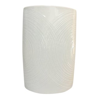 White Porcelain Naaman Op Art Pillow Vase