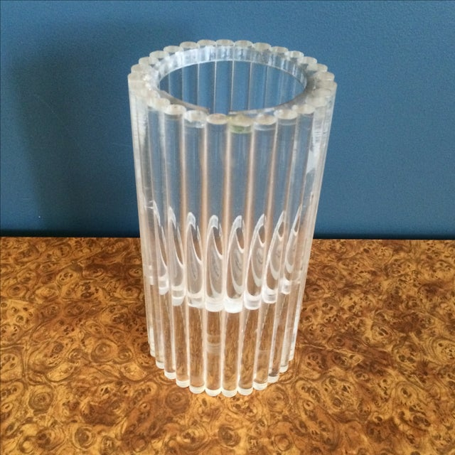 Image of Van Horn Hayward Lucite Candle Holder or Vase