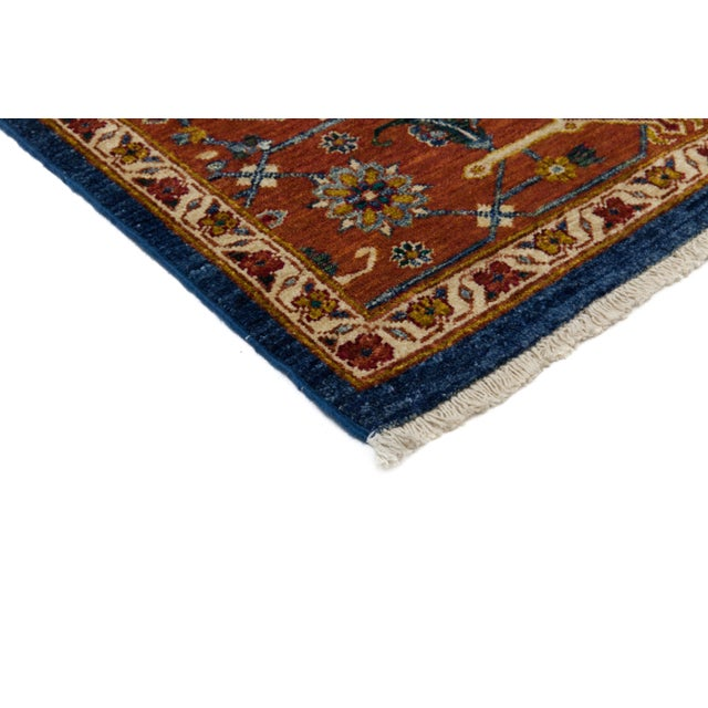 """Traditional Hand Knotted Area Rug - 6'1"""" X 9'2"""" - Image 3 of 4"""
