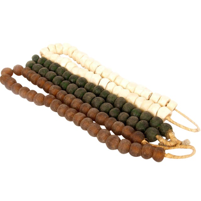 Image of Brown & Green Decorative Beads