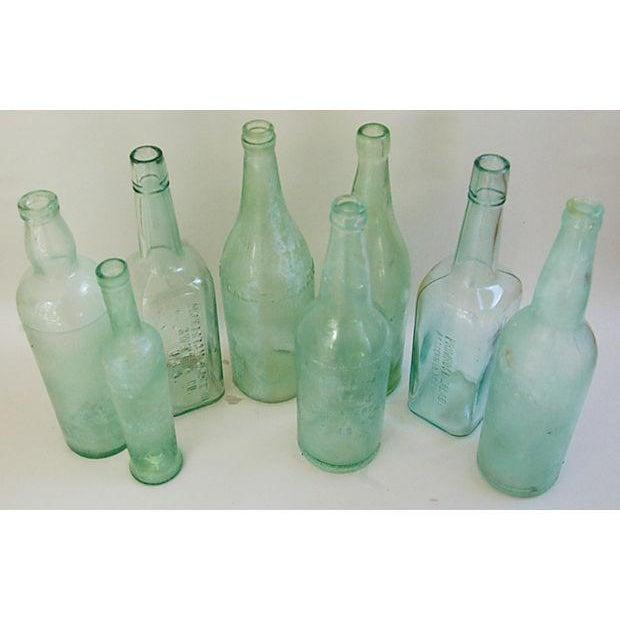 Pale Green-Blue Antique Bottles - Set of 8 - Image 4 of 8