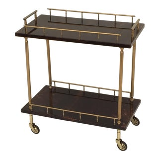 Petite Aldo Tura Parchment Bar Cart Trolley