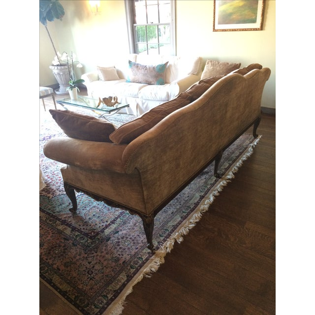 French Louis XV Style Finely Carved Walnut Sofa or Canape - Image 3 of 6