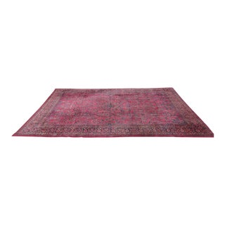 Vintage Hand Knotted Persian Rug - 13′7″ × 21′5″