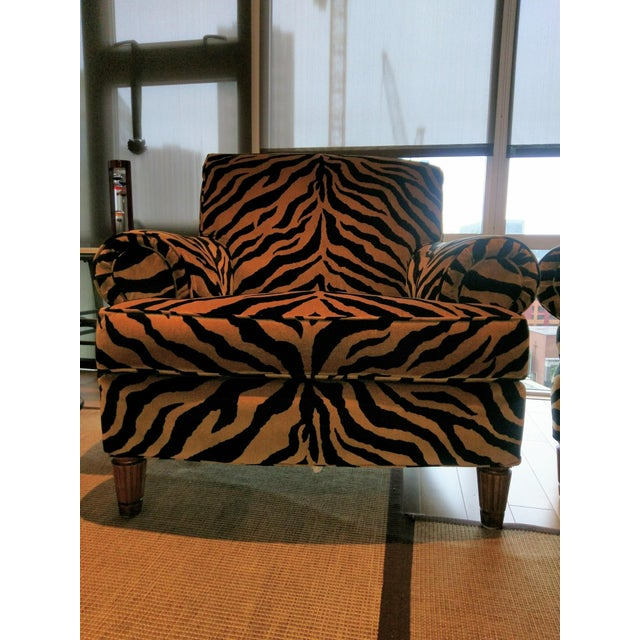 Tiger Print Chairs - Pair - Image 3 of 8
