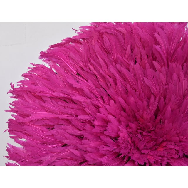 Large 30 Quot Pink African Feather Juju Hat Wall Hanging