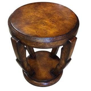 Art Deco Burl Side Table