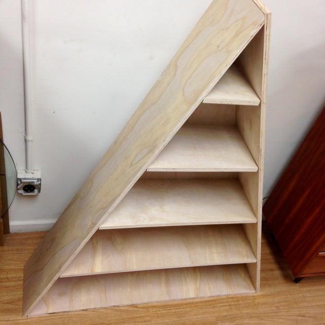 Triangular Natural Maple Bookshelf - Image 4 of 8