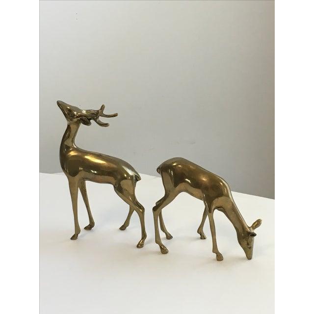 Brass Deer Figurines - A Pair - Image 4 of 7