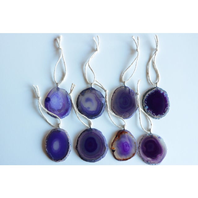 Agate Slice Christmas Ornaments - Set of 8 - Image 2 of 6