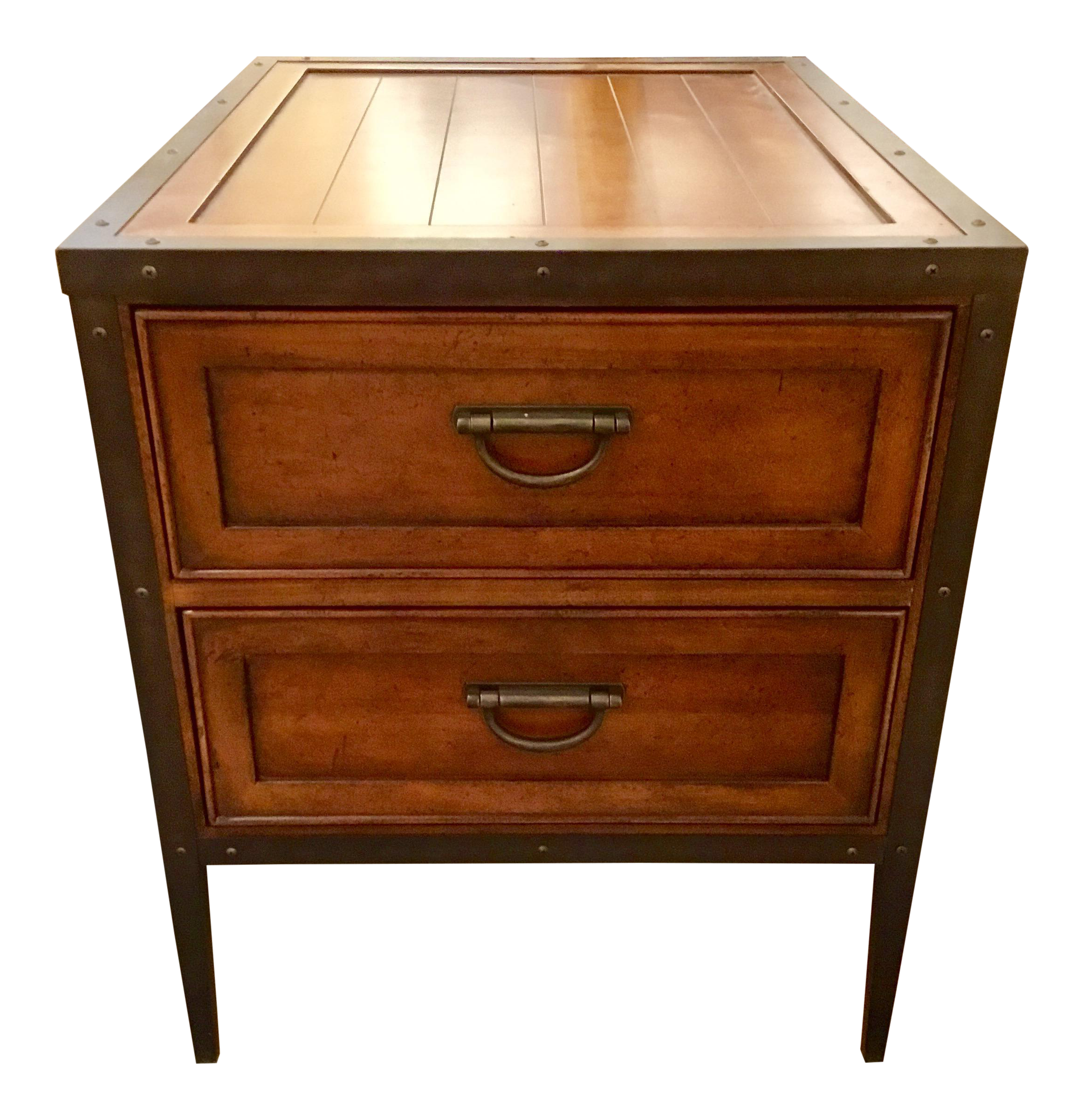 Thomasville Two Drawer End Table