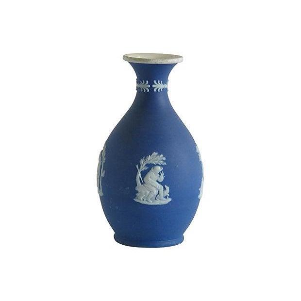 Wedgwood English Blue Porcelain Vase - Image 2 of 4