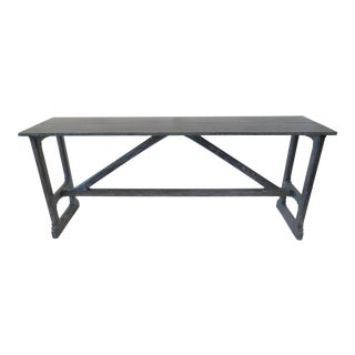 Custom Gray Trestle Console