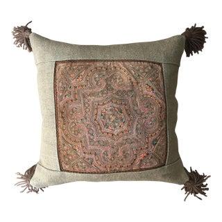 Vintage Applique Textile Lao Pillow